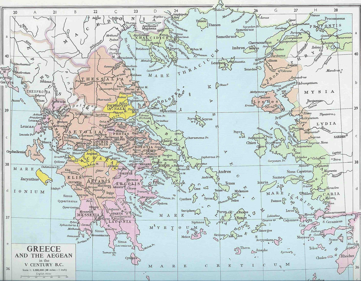 Greek And Roman Historians - Greek and rome map