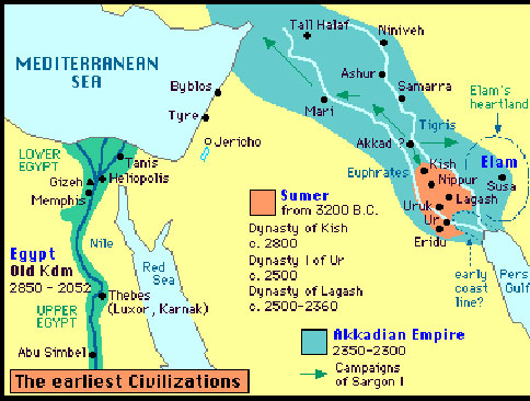 Imperialisms Ancient And Modern - Map of egypt 2000 bc