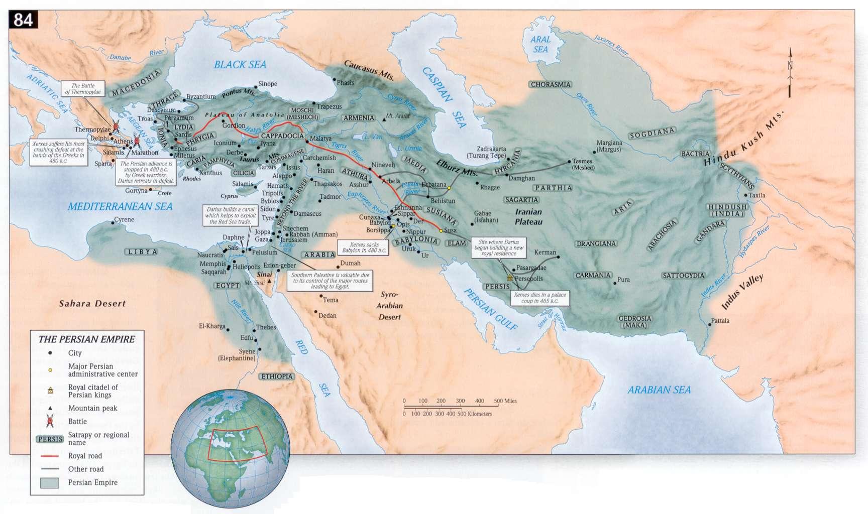 Maps - Ancient Persia Dreier Lyons
